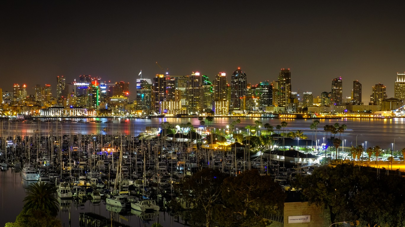 San Diego Skyline by a.canvas.of.light