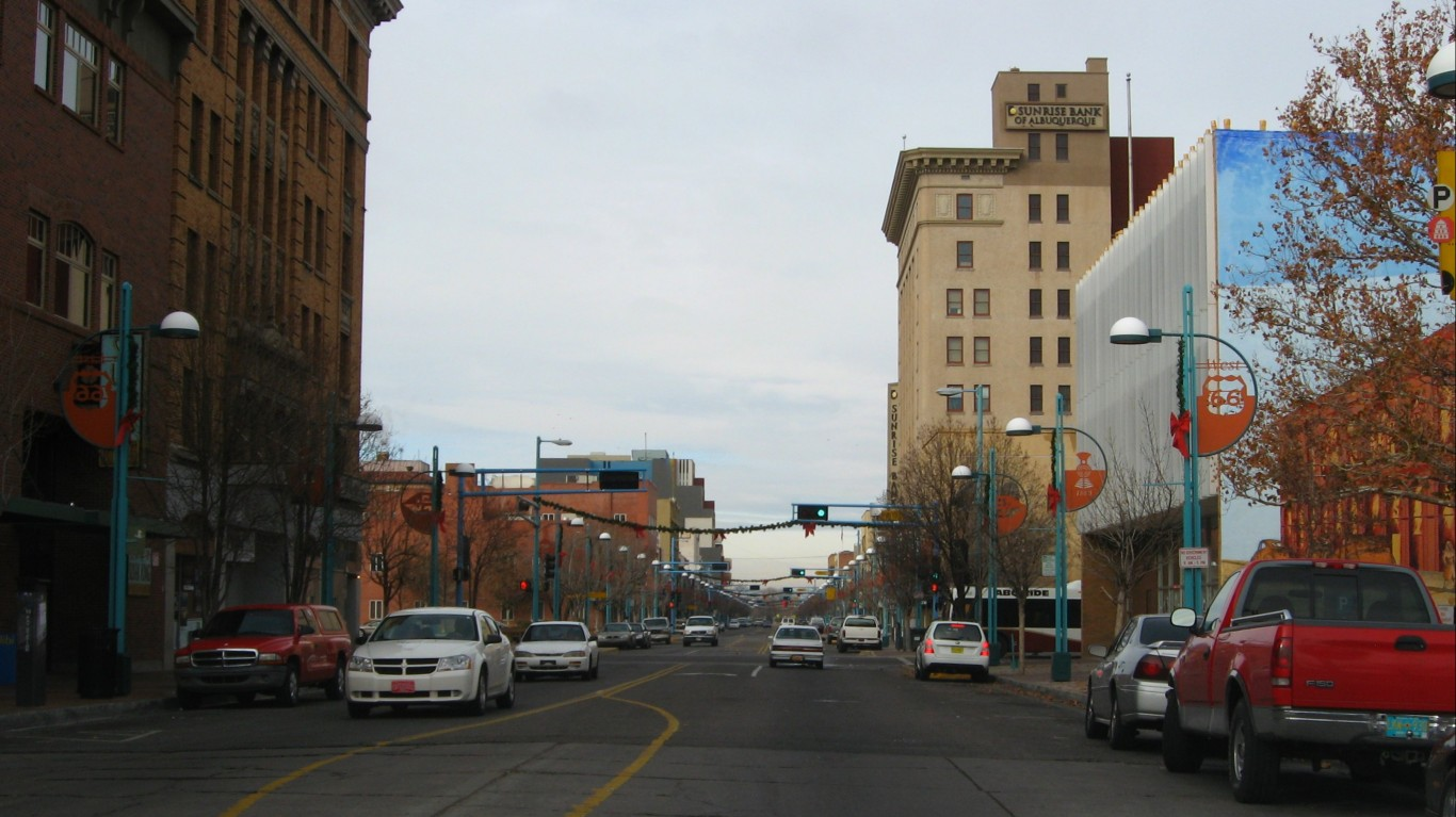 Central Avenue, Downtown Albuq... by Ken Lund