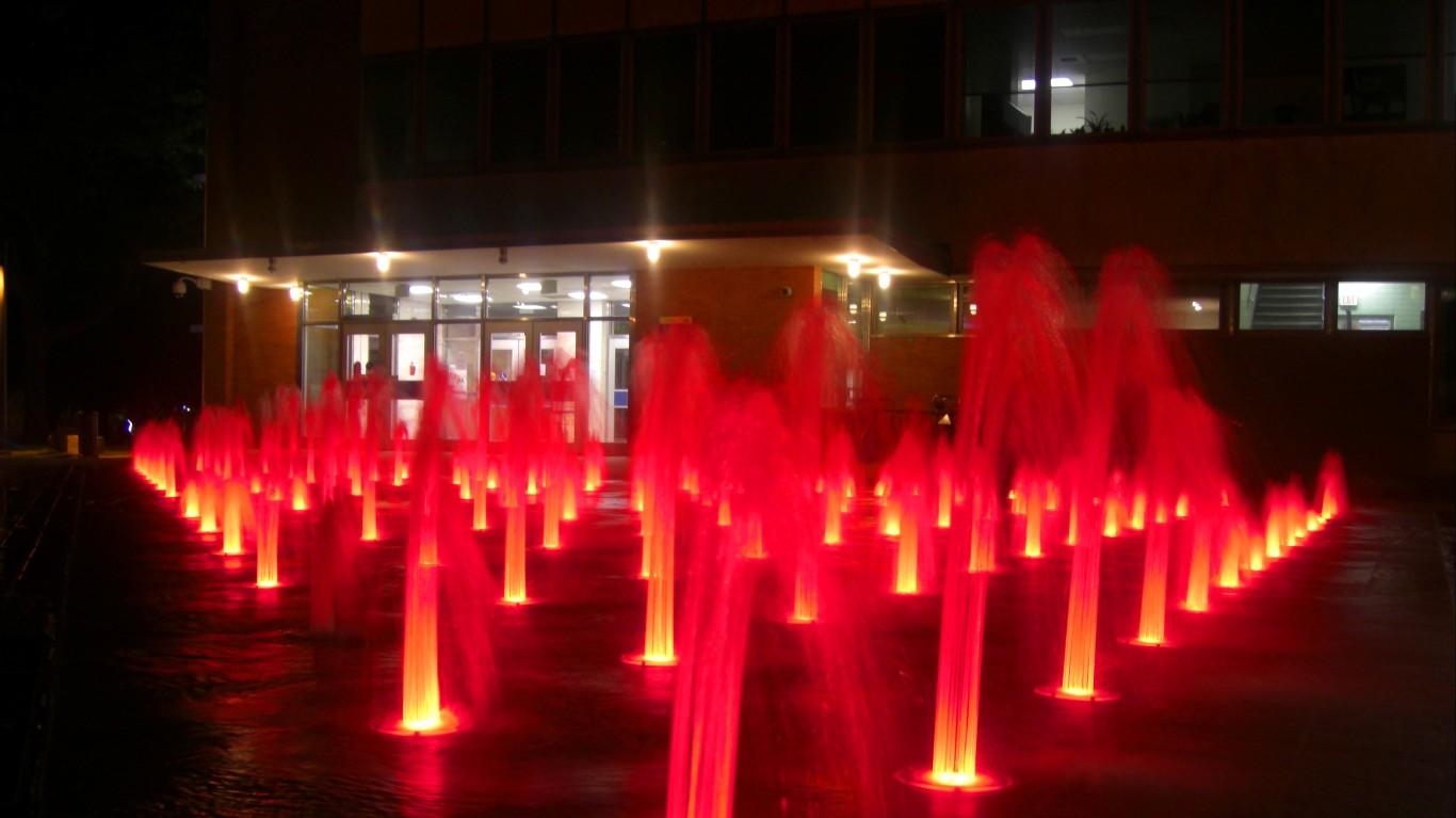 Fountain in the Quad by Sourav Das