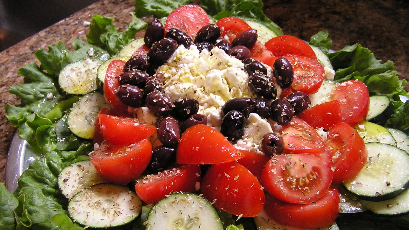 greek salad by Chelsea Nesvig