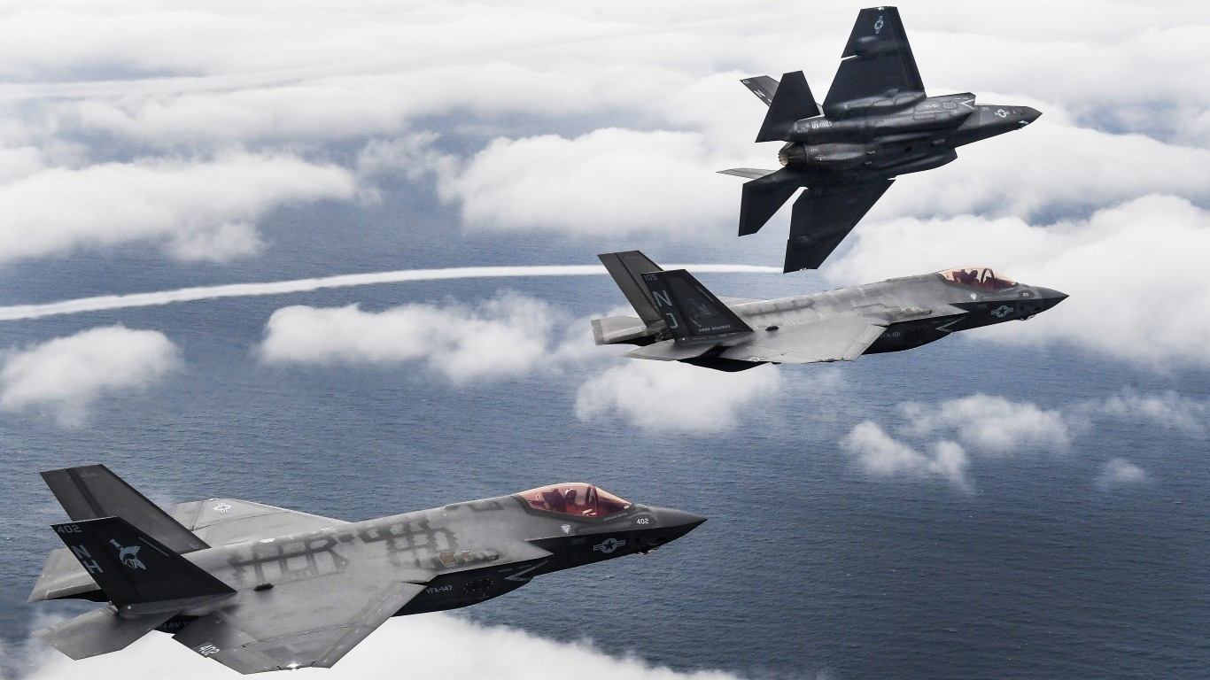 Three F-35C Lightning II aircr... by Official U.S. Navy Page
