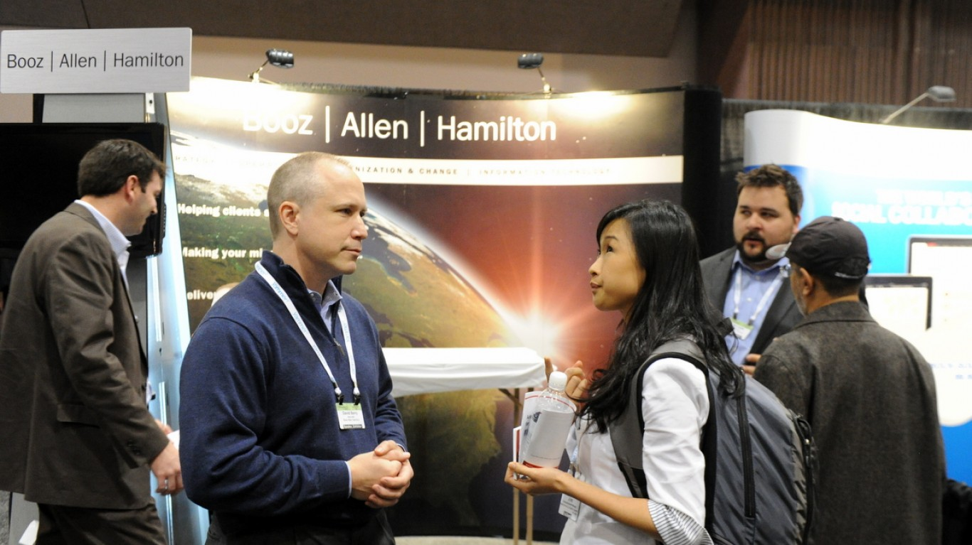 Booz Allen Hamilton Booth by Enterprise 2.0 Conference