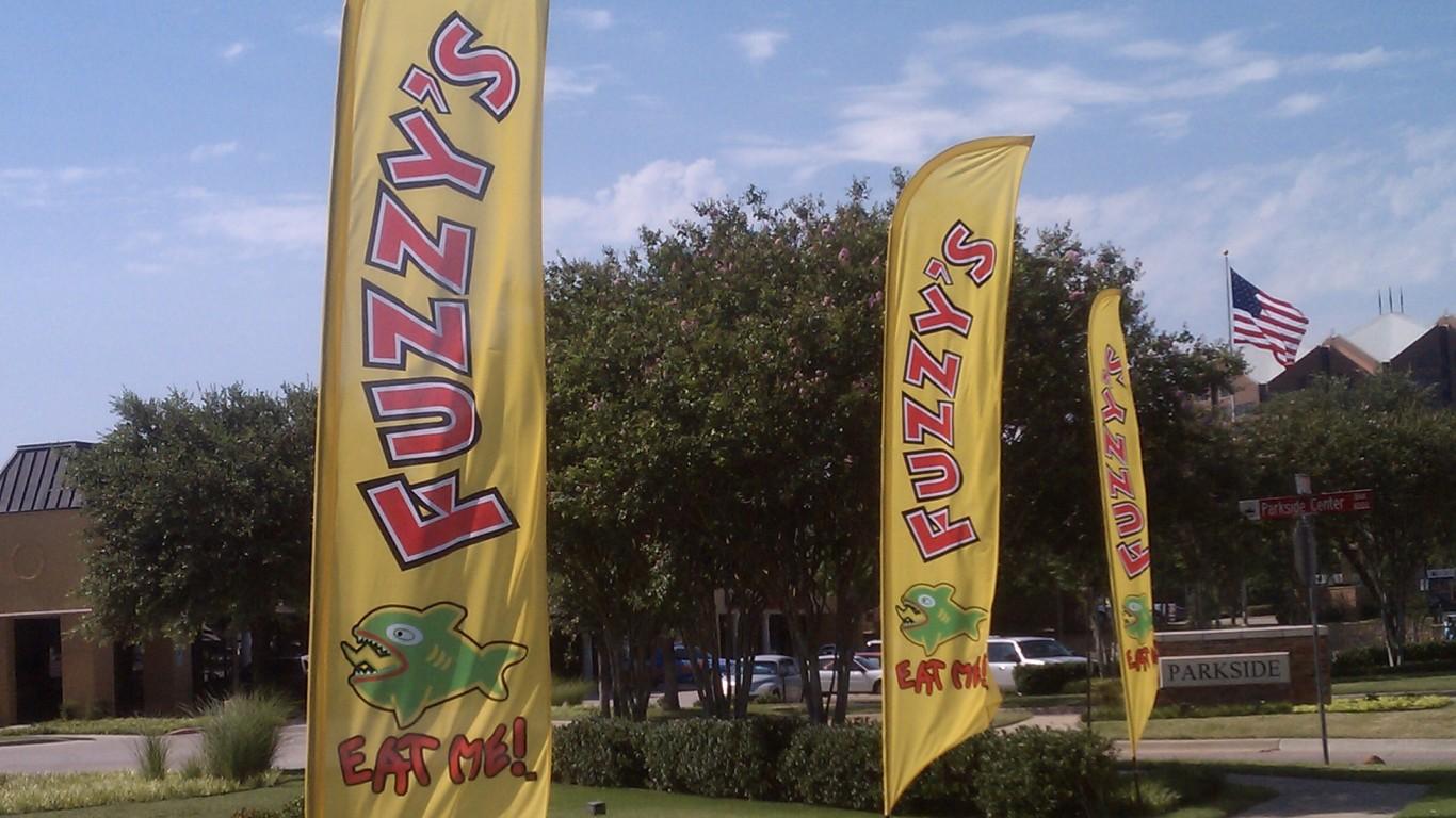 Fuzzy's Taco Shop Flags by Jordan Williamson
