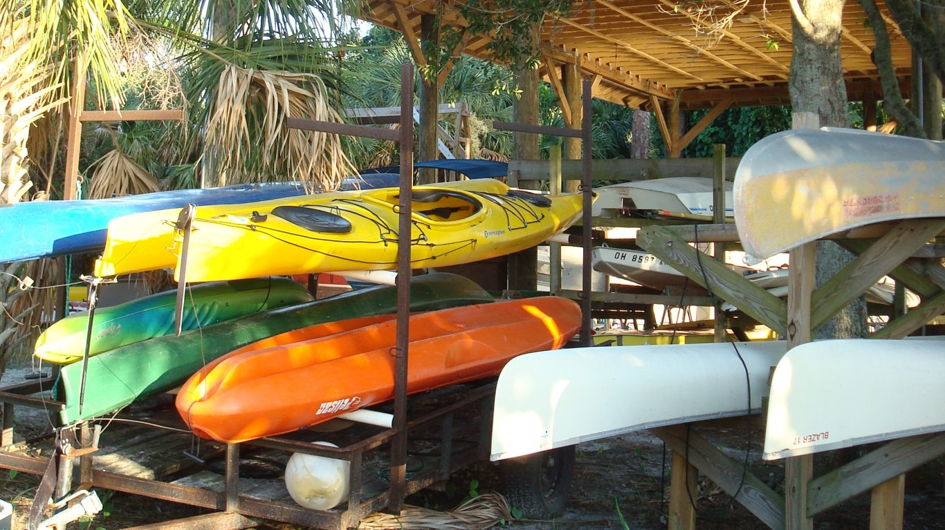 Kayaks, New College of Florida... by Chris Lexow