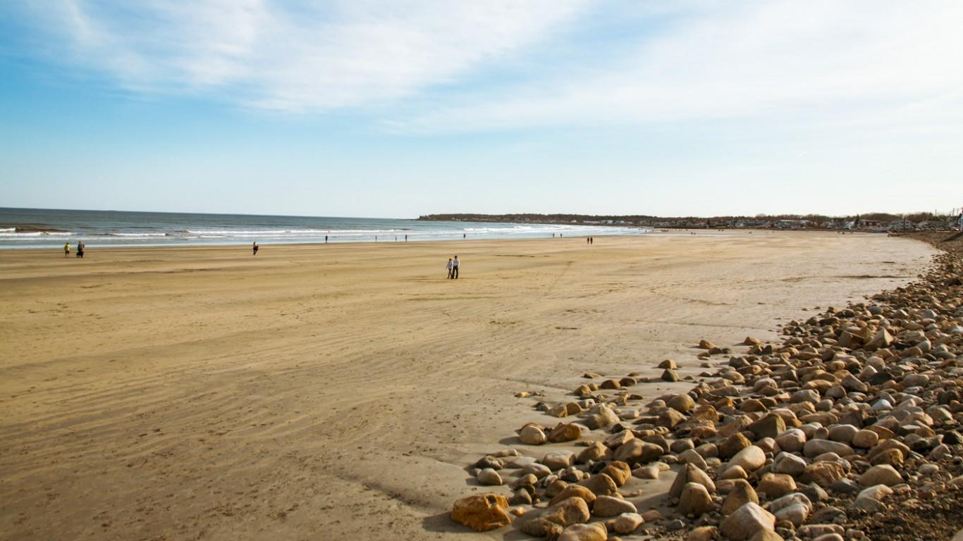 Beach In York Maine by Paul VanDerWerf