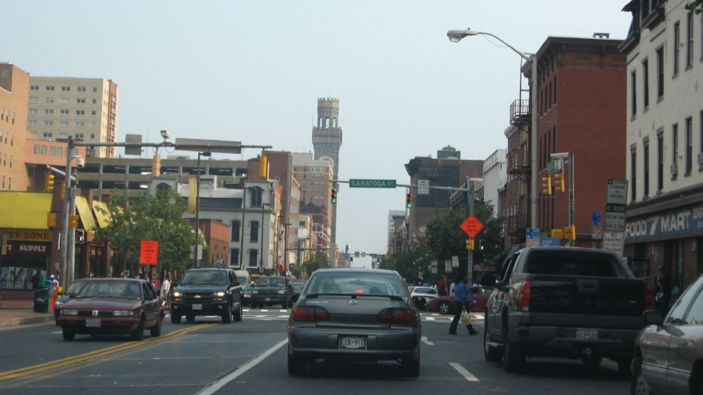 Entering Downtown Baltimore, M... by Ken Lund