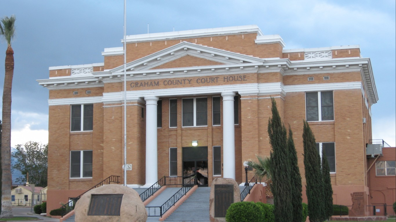 Graham County Courthouse, Saff... by Ken Lund