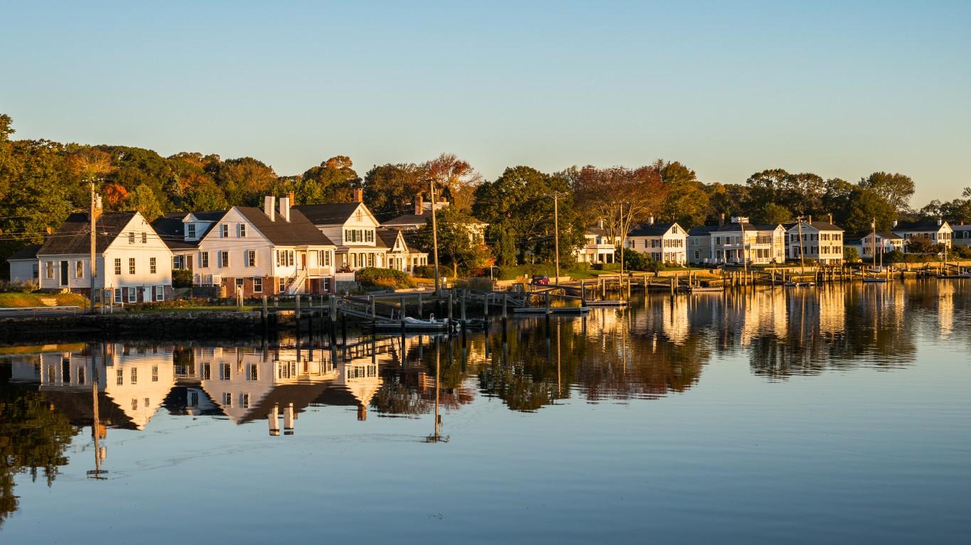 Sunrise in Mystic, Connecticut by Roman Boed