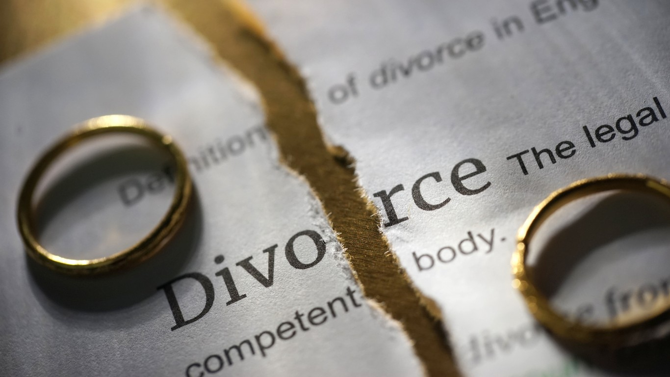 Cities With the Most and Least Divorce