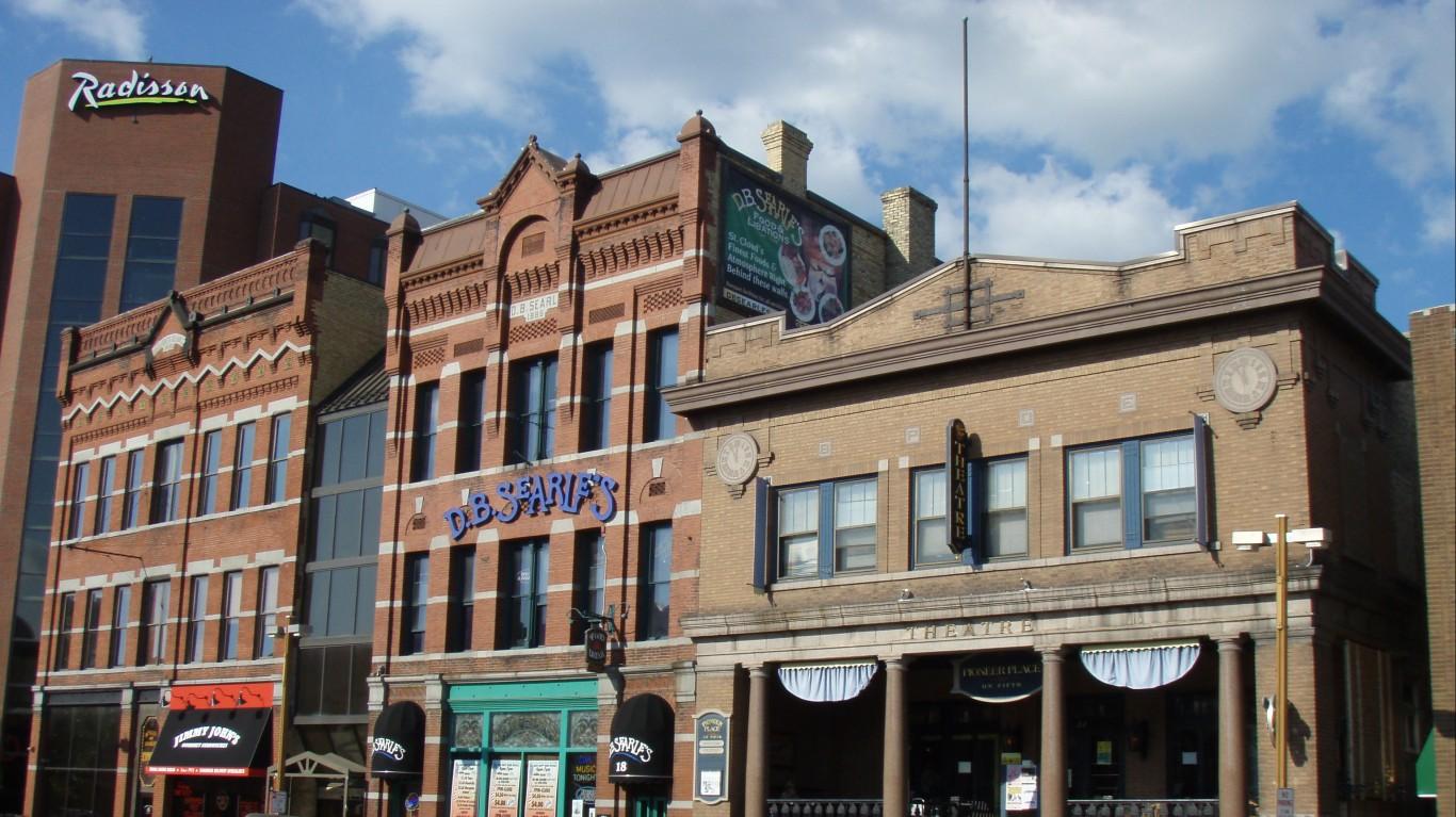 Downtown St. Cloud, Minnesota by GPA Photo Archive