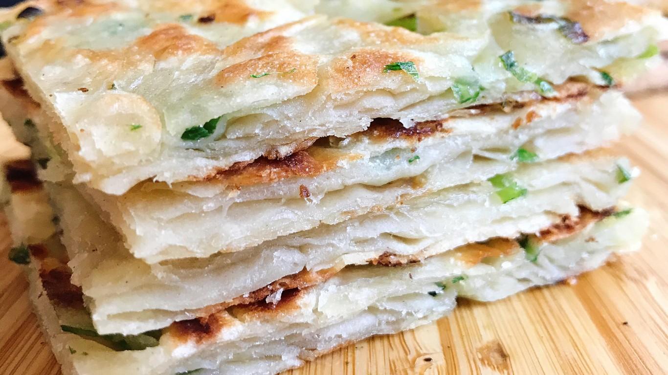 Bacon fat scallion pancakes by Joy