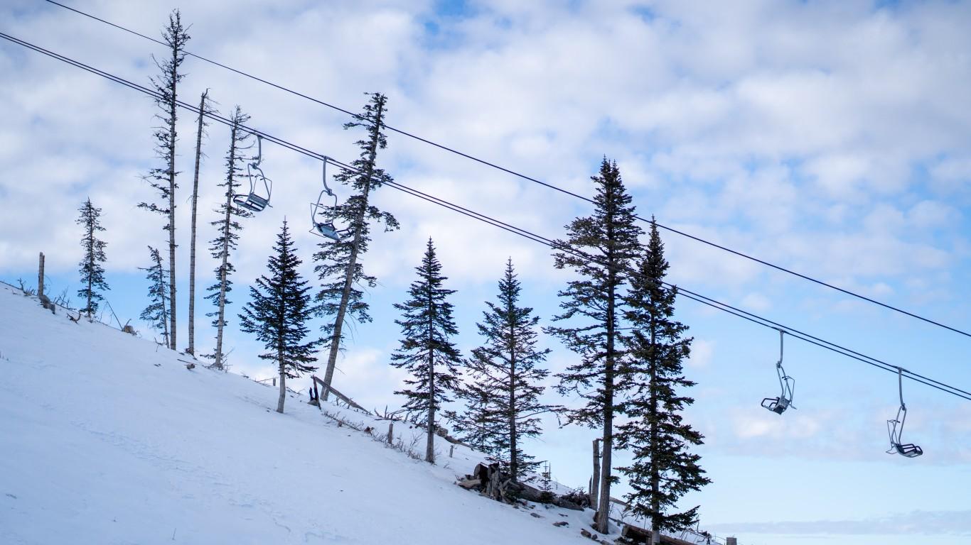 Empty Ski Lift Chairs - Ski Re... by Jonathan Cutrer