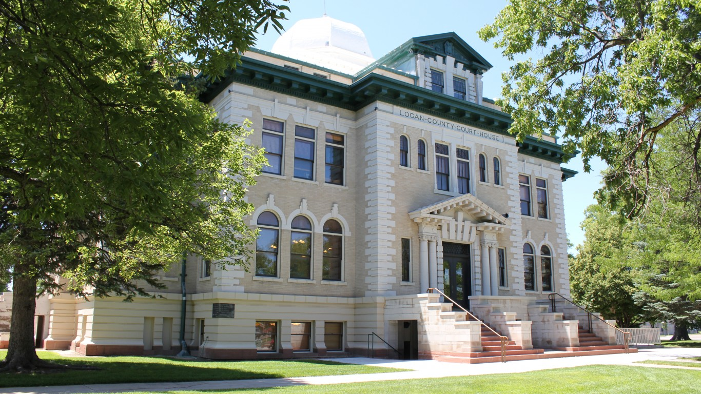 Logan County Courthouse (Color... by Jeffrey Beall