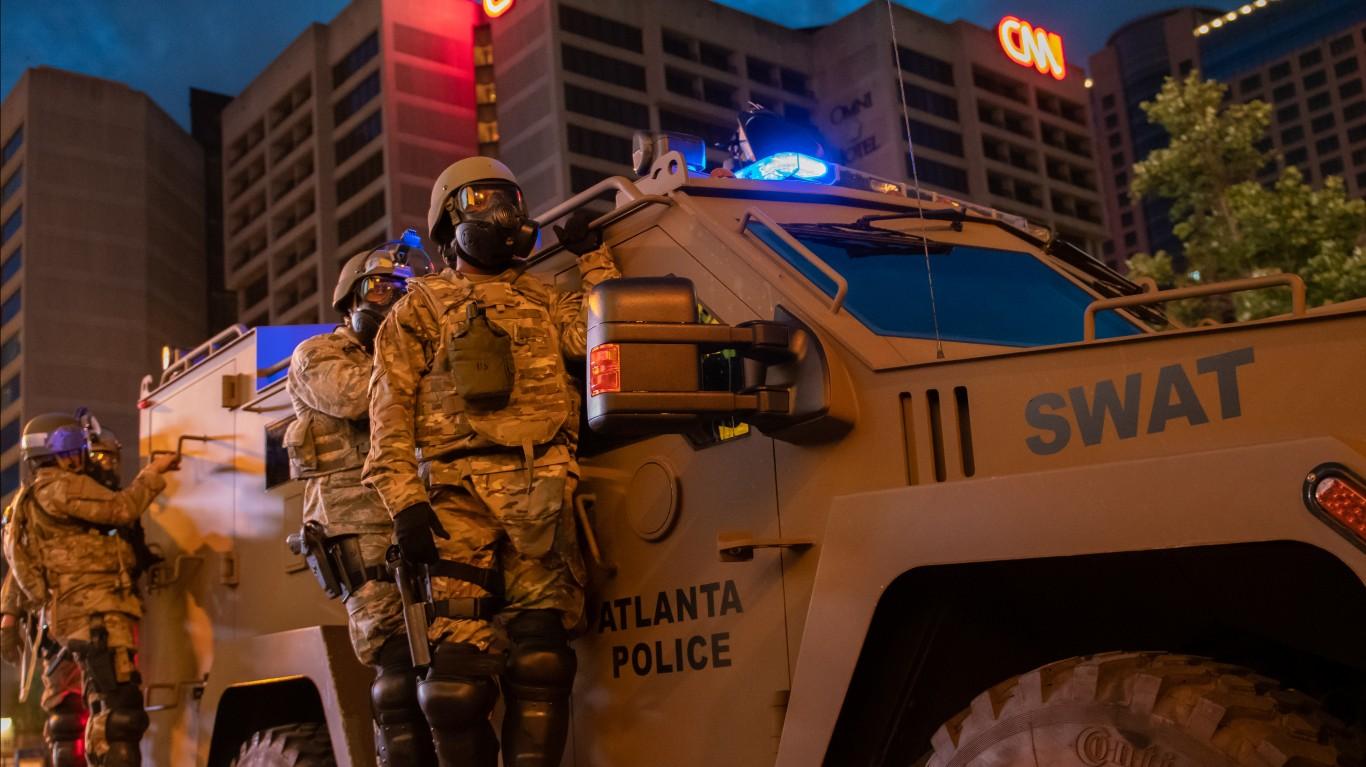 Curfew Patrol by Georgia National Guard