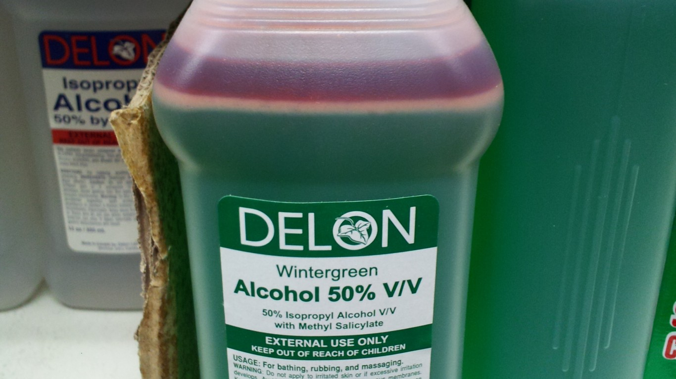 Green rubbing alcohol by Ben Schumin