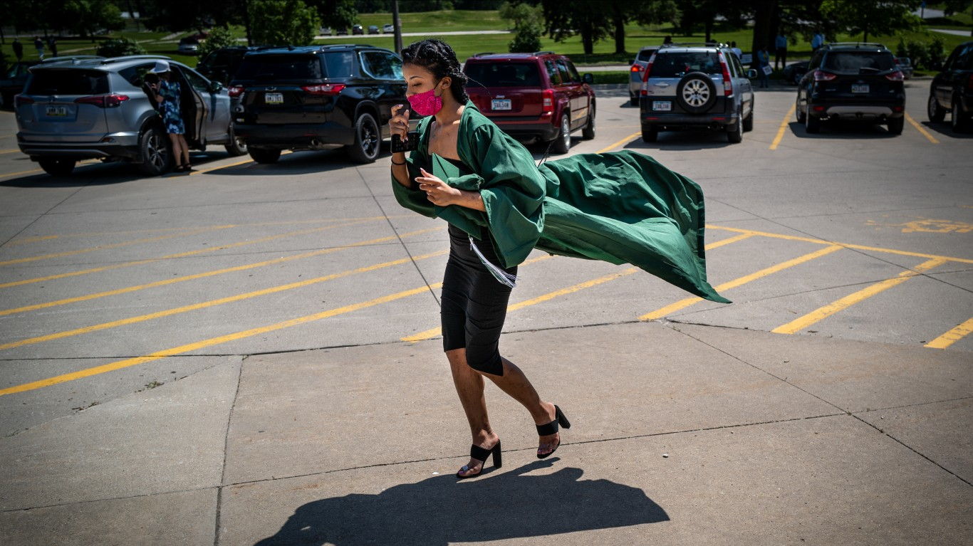 Graduation Day at North High by Phil Roeder