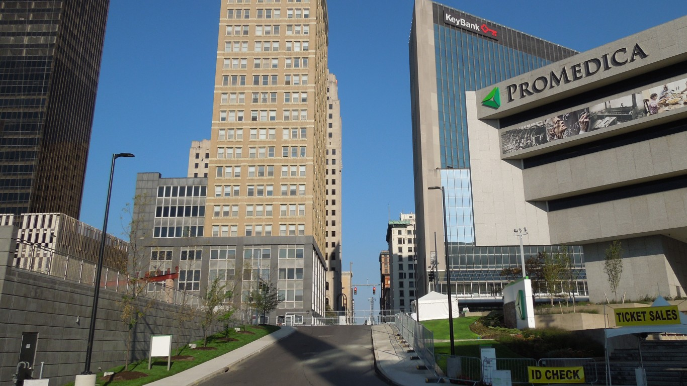 Part of downtown Toledo, Ohio by Counselman Collection