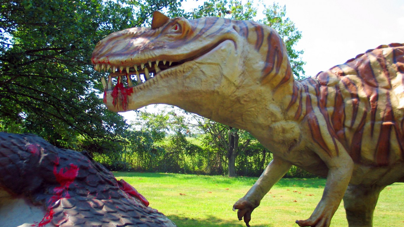Fiberglass Dinosaurs are Messy... by Taber Andrew Bain