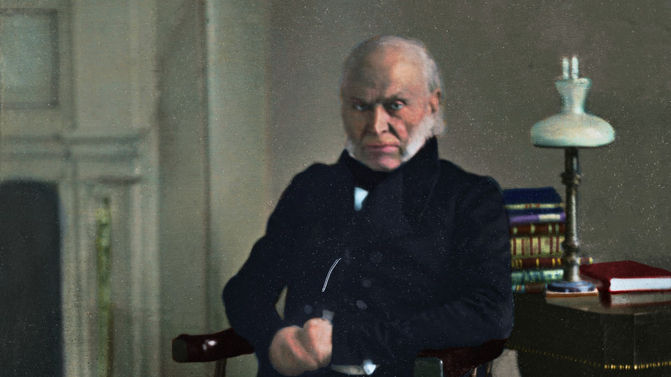 US President John Quincy Adams... by Cassowary Colorizations