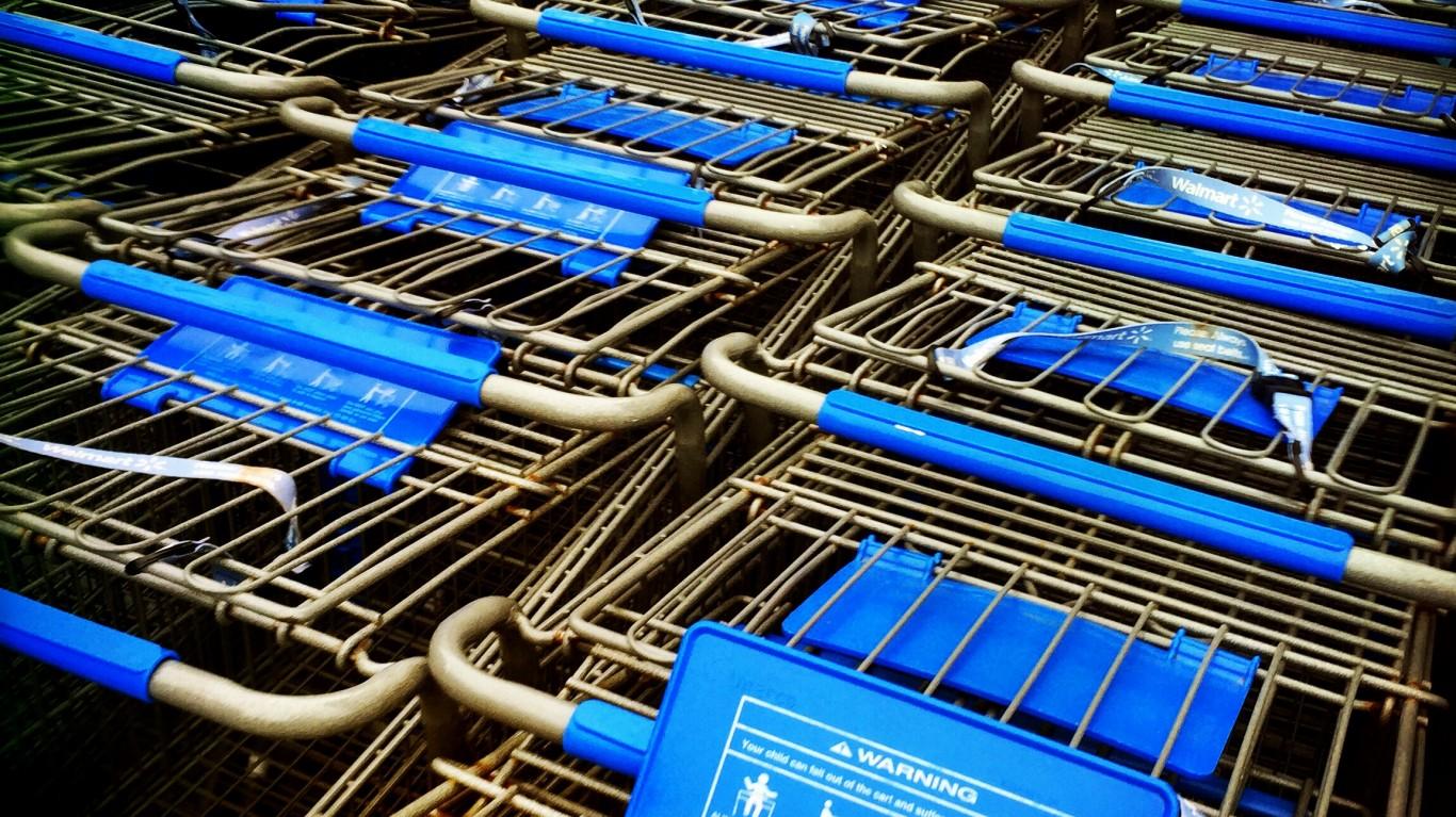 Carts at the Walmart by Jenni C