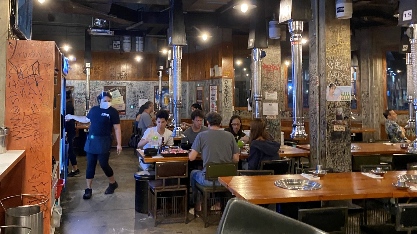 Indoor restaurant air circulat... by Sharon Hahn Darlin