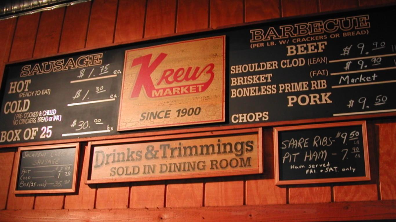 Kreuz Market menu by Ken