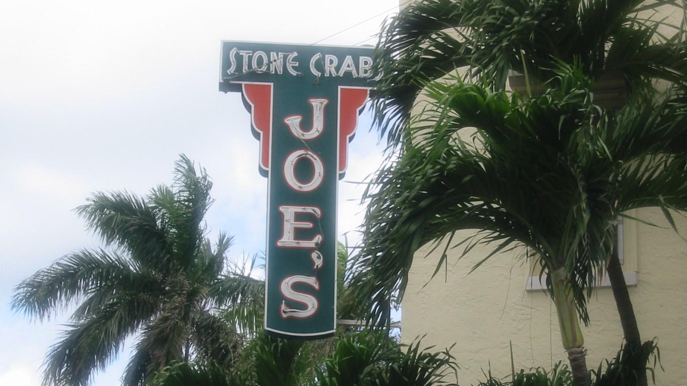 Joe's Stone Crabs Sign by Phillip Pessar