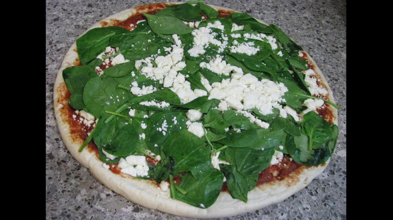 Spinach-Feta Pizza by NatalieMaynor