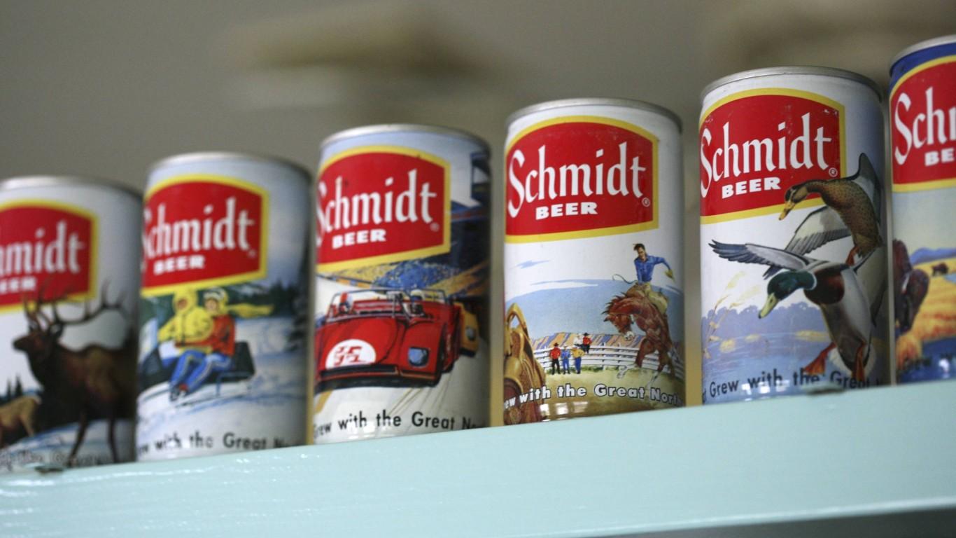schmidt beer by Ed Schipul