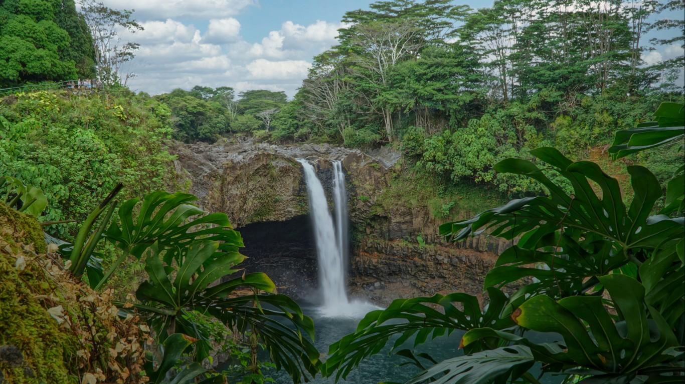 Rainbow Falls Hilo Hawaii by Eric Tessmer