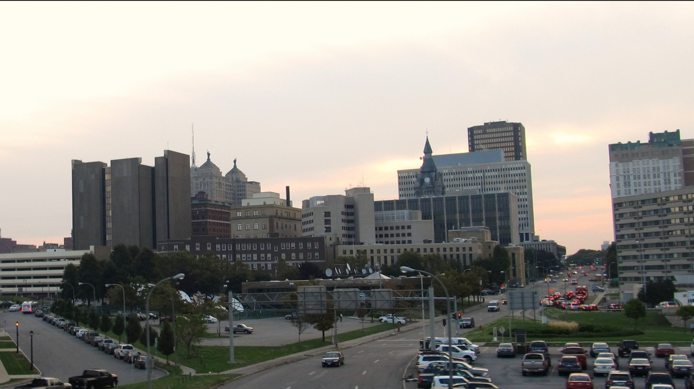 Downtown Buffalo, New York by Ken Lund