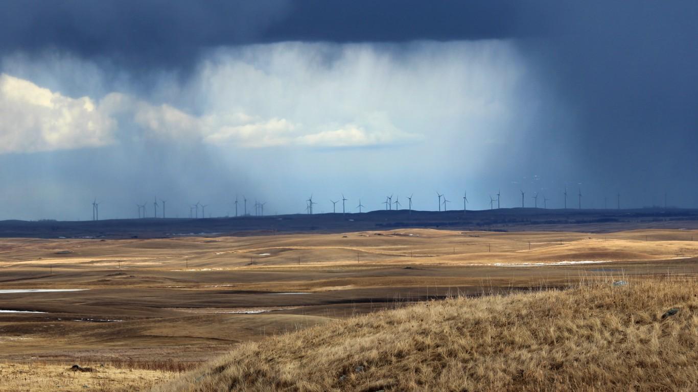 Wind Turbines during a Rainsto... by Krista Lundgren / USFWS Mountain-Prairie