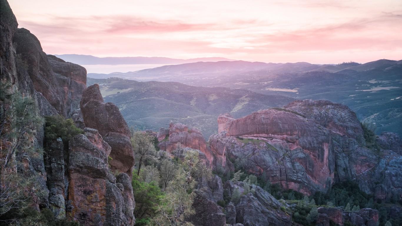 Sunset at Pinnacles National P... by Stanislav Sedov