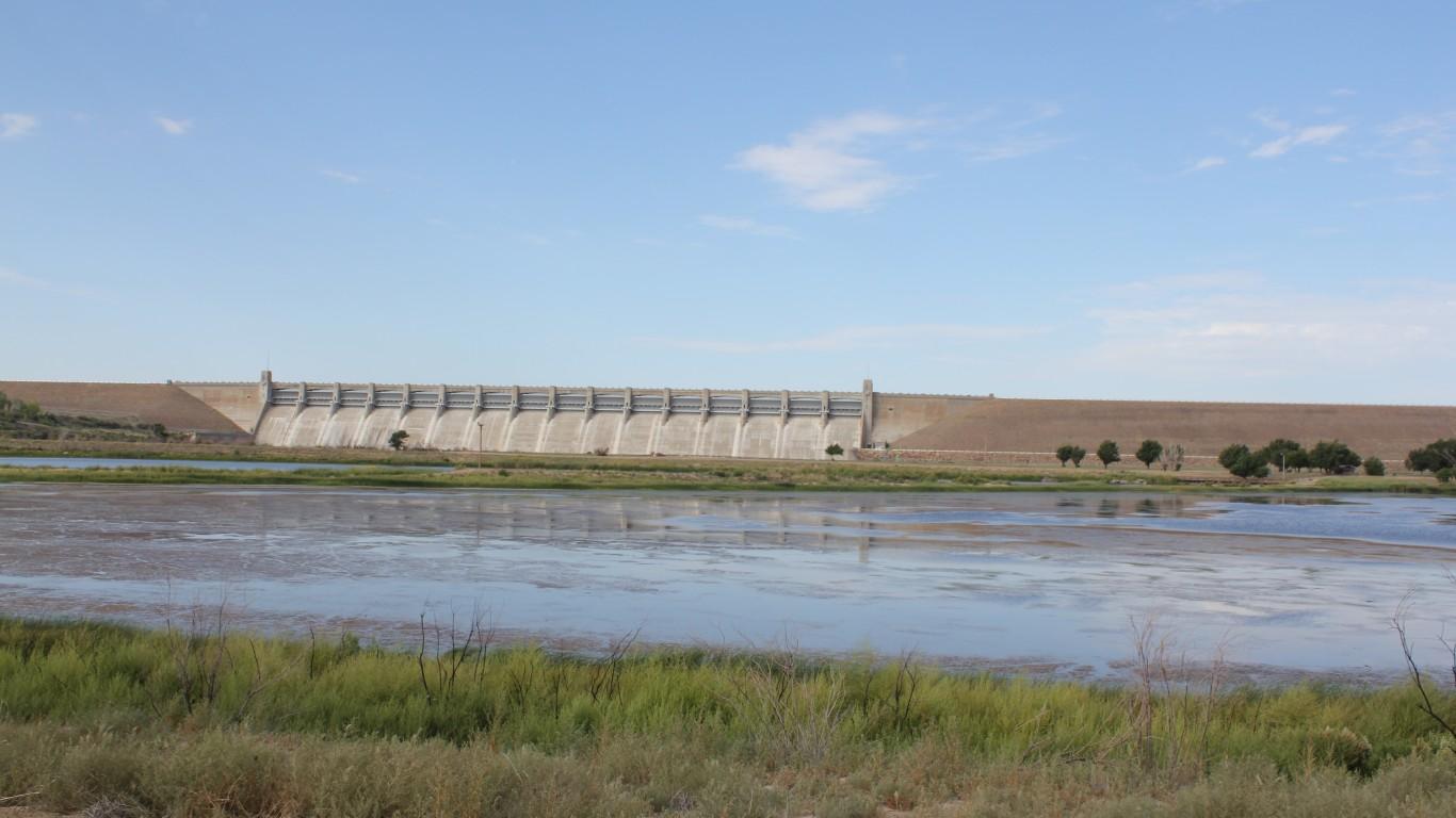 John Martin Reservoir Dam by Jeffrey Beall