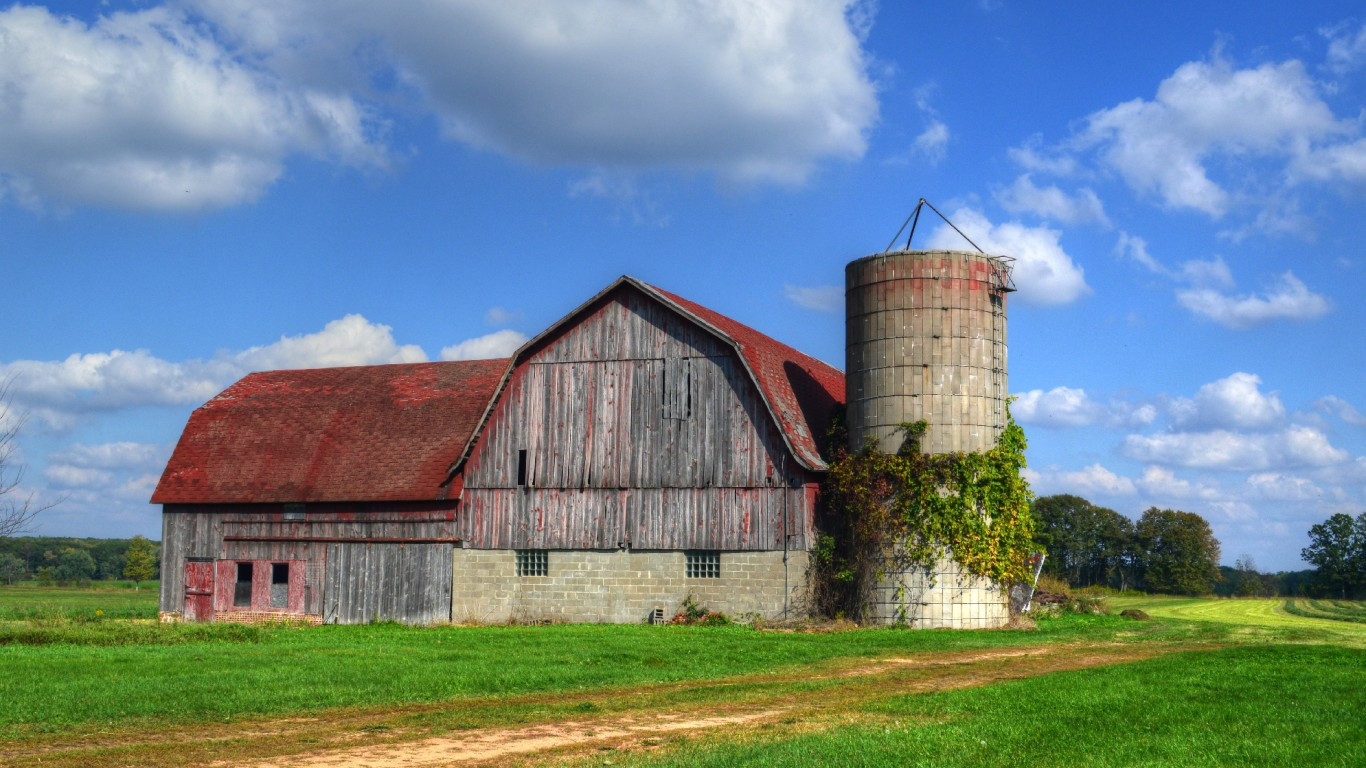 Mill Creek Red Roof Barn by William Garrett