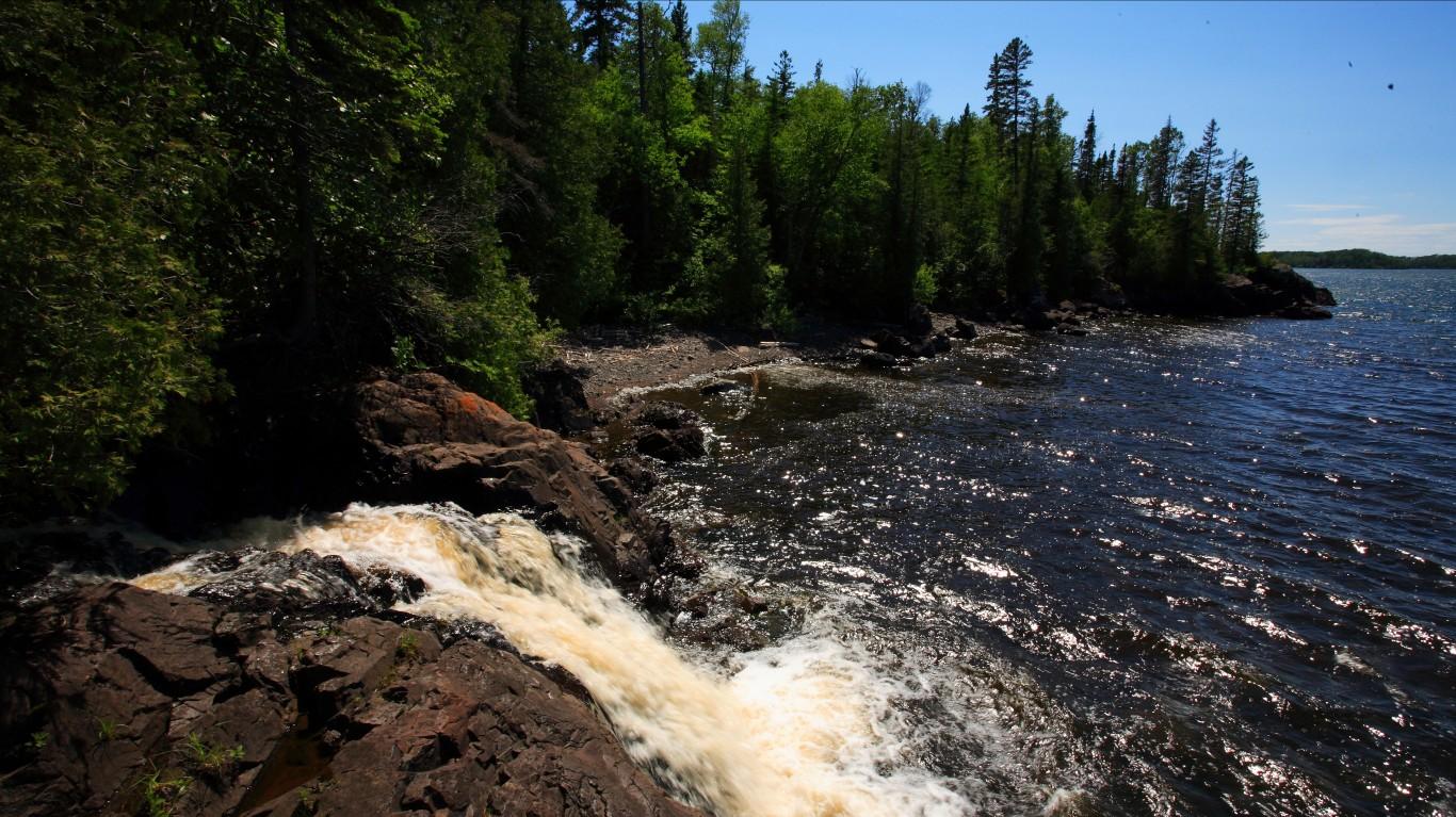 Waterfall near Todd Harbor at ... by Ray Dumas