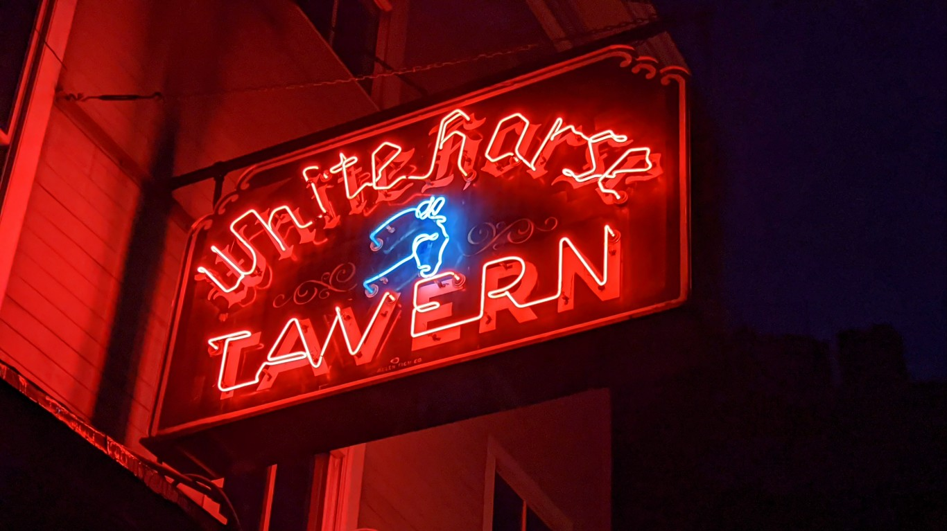 White Horse Tavern Sign by Eden, Janine and Jim