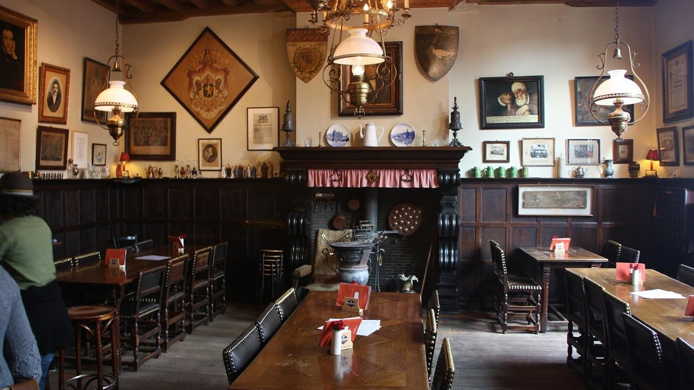 Inside Bruges oldest pub - Caf... by Kylie & Rob (and Helen)