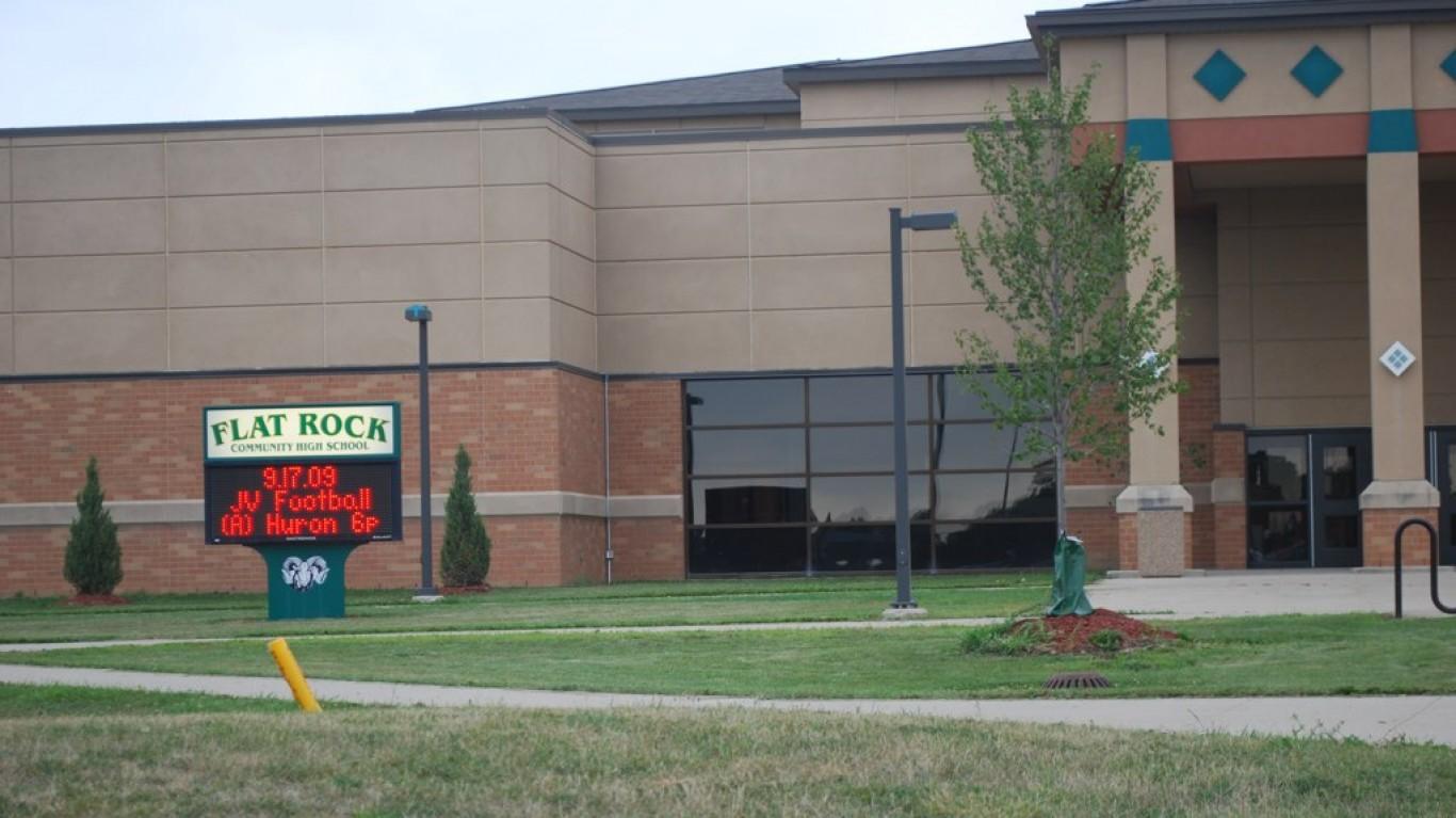 Flat Rock High School by Bill Rice